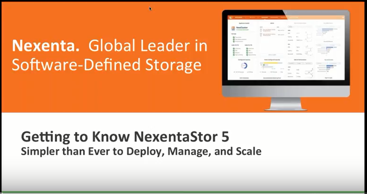 Getting to know Nexentastor 5
