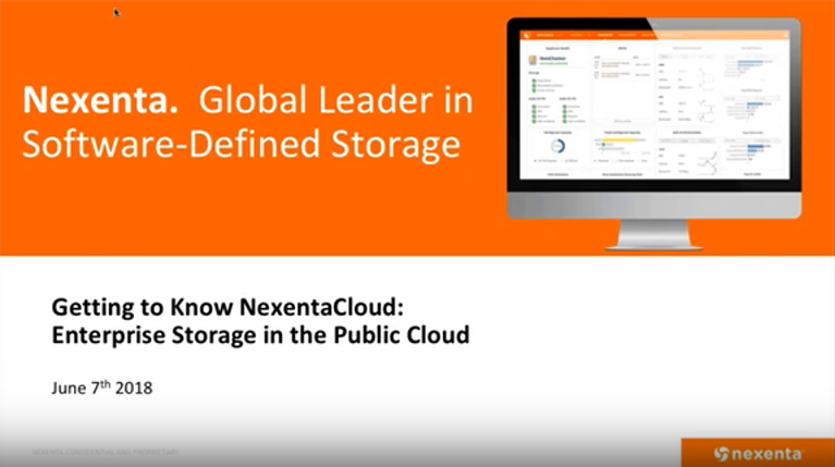 Getting to Know NexentaCloud Webinar