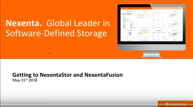 Getting to Know NexentaStor and NexentaFusion Webinar